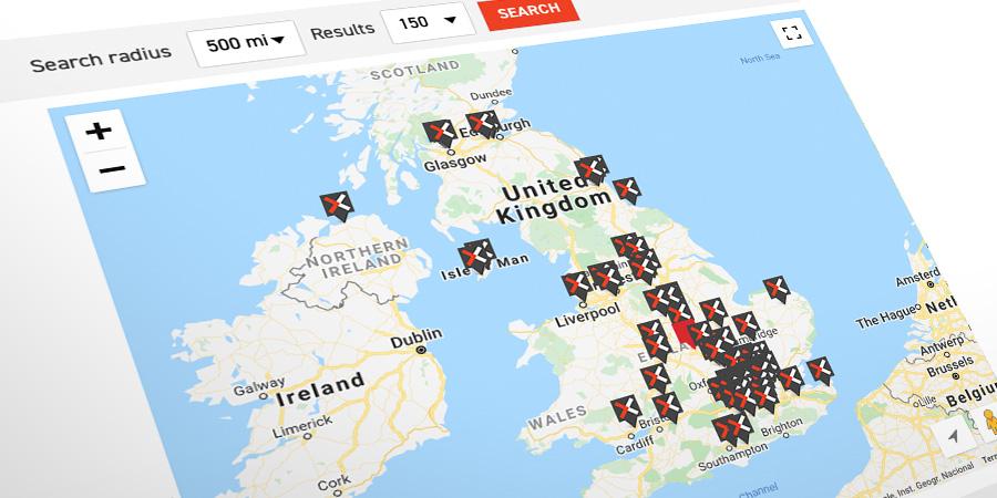 Colo-X UK data centre map